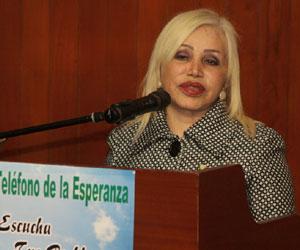 Presidenta del Teléfono de Perú, Dra. Soraya Calderón Rojas