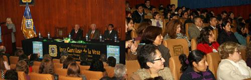 El acto se desarrolló en el auditorio de la Facultad de Derecho y Ciencias Políticas de la UIGV